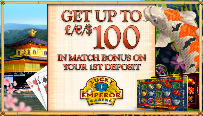 Get a €£$10 no deposit bonus at Lucky Emperor Casino