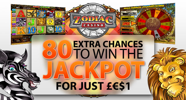 80 extra chances to win the jackpot for just €£$1